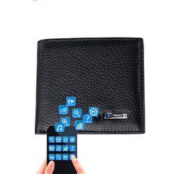 Smart Wallet hombres de cuero genuino de alta calidad perdida Anti Bluetooth inteligente monedero portatarjetas juego para IOS, Android