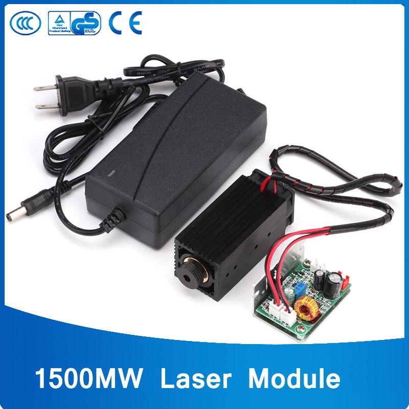High Power 15000mw Blue Color Laser Head 15W Laser Module DIY Metal Engraving 450nm Lasers DIY Laser Engraving Machine
