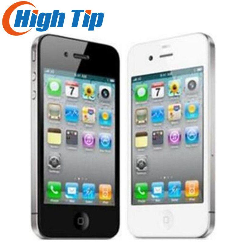 Free gift! Apple iphone 4G 8GB/16GB/32GB 100% Factory Original Unlocked Cell phone 3.5 inch GPS WIFI 5MP 1 year warranty