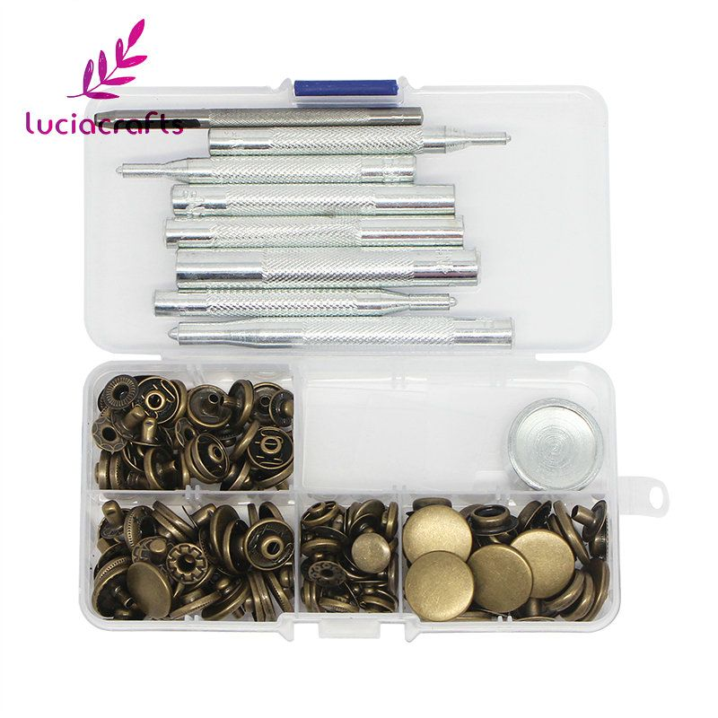 Lucia crafts 1 box/lot Assortment size Metal General Tools& Instruments DIY Sewing Press Studs Button Snap Fastener 004010005(2)