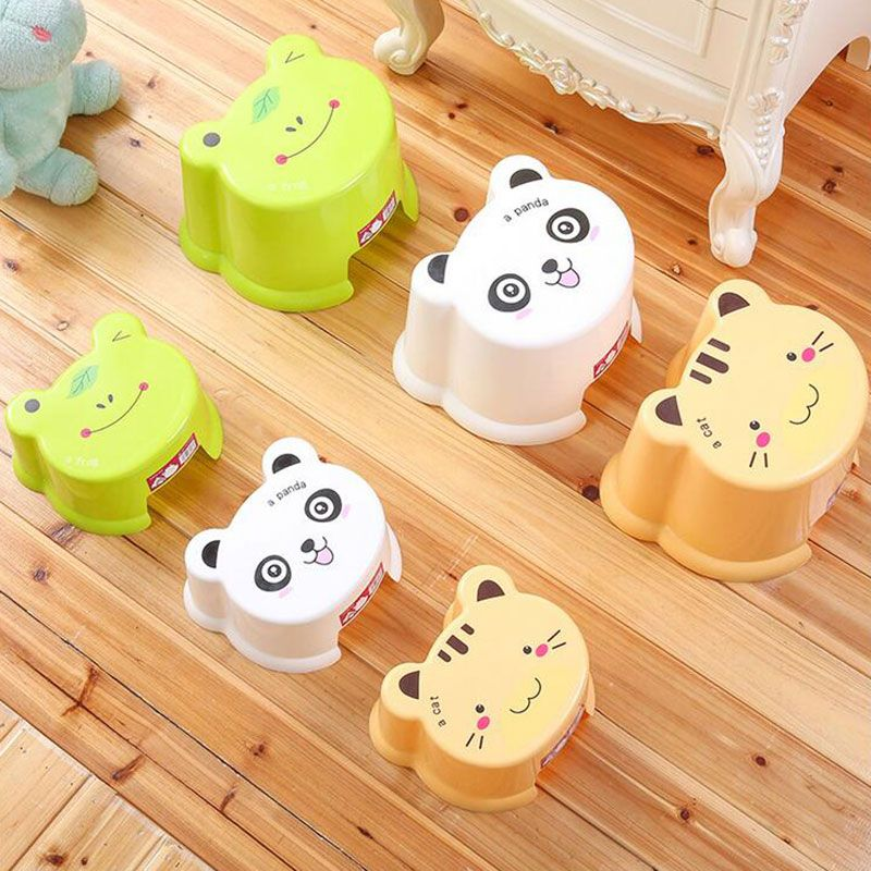 Plastic Cartoon Stool for Kids and Adult Lovely Thick Chair Small and Big Available Free Shipping D01