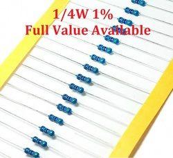 100 Pcs/lot 1/4W 0R/0.5R/1R/2.2R/3.3R Resistor Film Logam 0/0. 5/1/2.2/3.3 Ohm 1% 0.25W Resistor 1/4W Warna Cincin Perlawanan