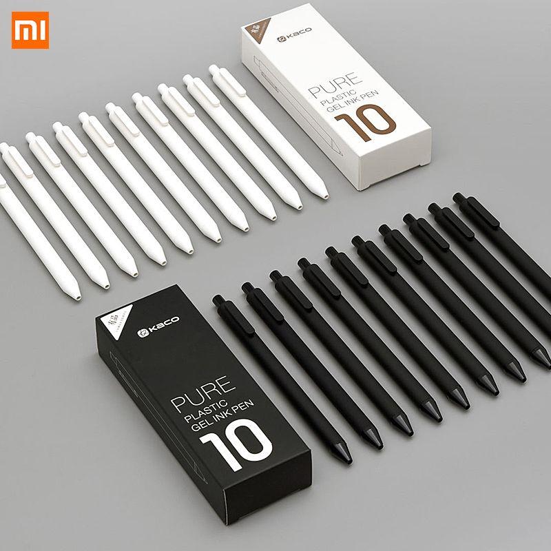 10 Pcs/Lot Xiao mi KACO 0.5mm Xio mi mi signature stylo Gal encre écriture lisse Durable signature noir recharge