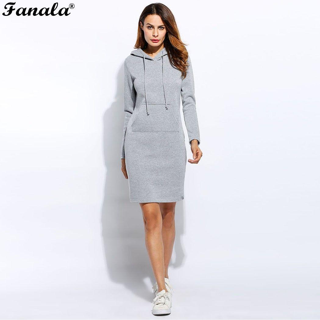 2018 Women Summer Autumn Dress Sexy Casual Swaetshirt Dress Tops Blusas Fashion <font><b>Elegent</b></font> Dresses Vestidos Long Sleeve Dress