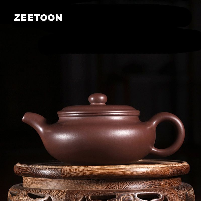 220cc Antique Pot Master Handmade Authentic Yixing Teapot Chinese Health Purple Clay Tea Set Tea Pot Fang Gu Pot Teaware Kettle