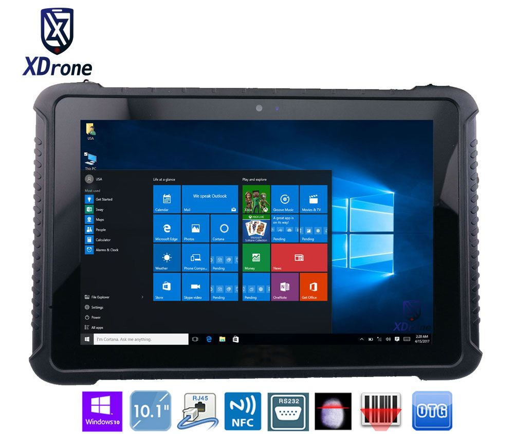 China K16H Robusten Tablet PC 10 zoll Windows 10 hause Z8350 IP67 Wasserdicht Stoßfest Android 4G LTE Fingerabdruck RS232 RJ45 GPS