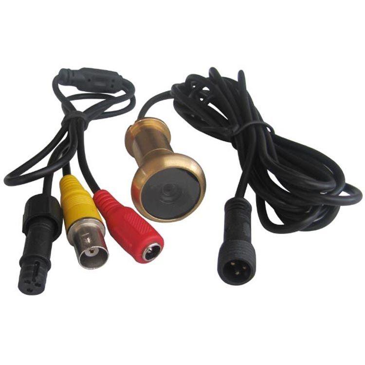 Lentille de caméra de porte filaire 3rd 0.008Lux en laiton 90 degrés porte Viwer Peelhole caméscope porte lentille de caméra