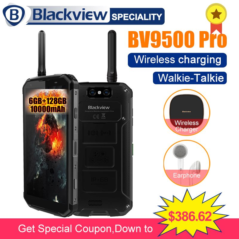 BLACKVIEW BV9500 Pro 10000mAh wireless charging mobile phone IP68 waterproof 5.7