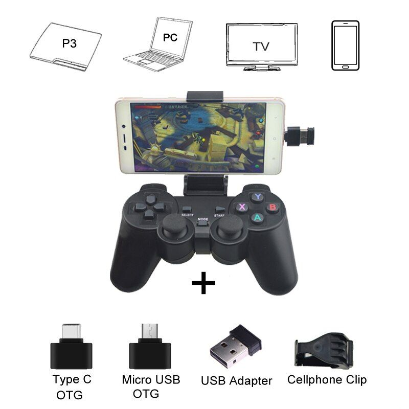 2.4G Wireless Controller For PS3 Android Phone TV Box PC <font><b>Joystick</b></font> For Xiaomi OTG Smart Phones Game Controller Remote Joypad