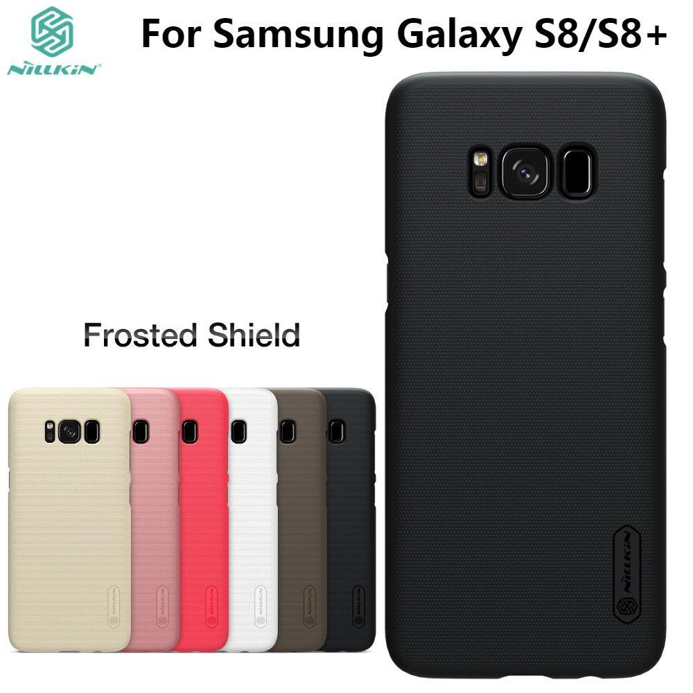 Pour Samsung Galaxy S8/S8 Plus Cas NILLKIN Givré PC En Plastique revêtement arrière avec cadeau support pour téléphone Pour Galaxy S8 S8 Plus