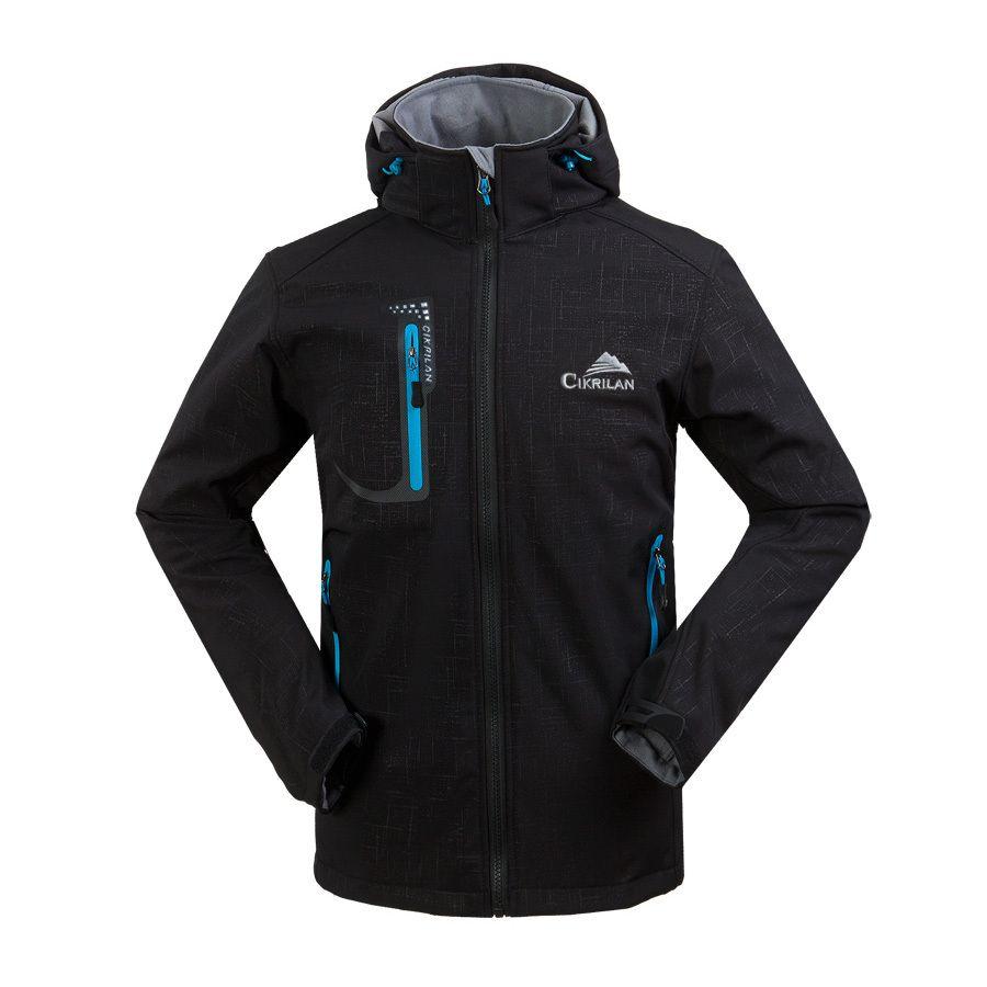 New Mens Waterproof Fleece Lined Softshell Hoodie Jacket Outdoors Spring Autumn Windbreaker Camping Hiking Coat