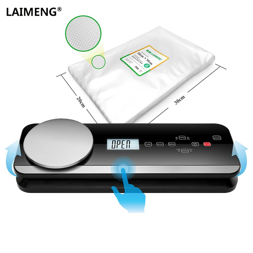 LAIMENG Automatic Food Packing Machine Vacuum Packer Vacuum Sealer With Food Grade Vacuum Bags Package Kitchen Appliance S199