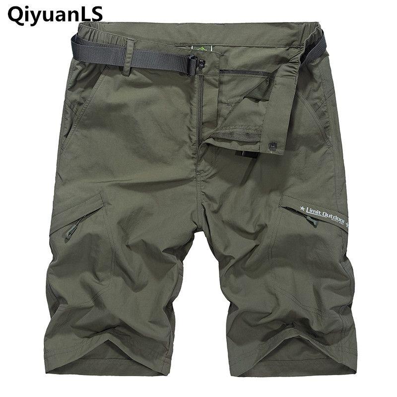 Summer Men's Casual Shorts Brand Clothing Military Cargo Shorts With Belt Pocket Short <font><b>Pantalones</b></font> Cortos Quick Dry Loose shorts