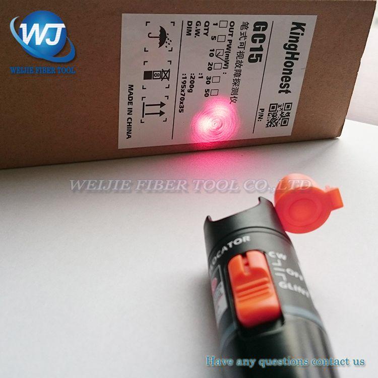 VFL 10 km Fiber optic visual fault detector pen out pw : >10mW Visual Fault Locator