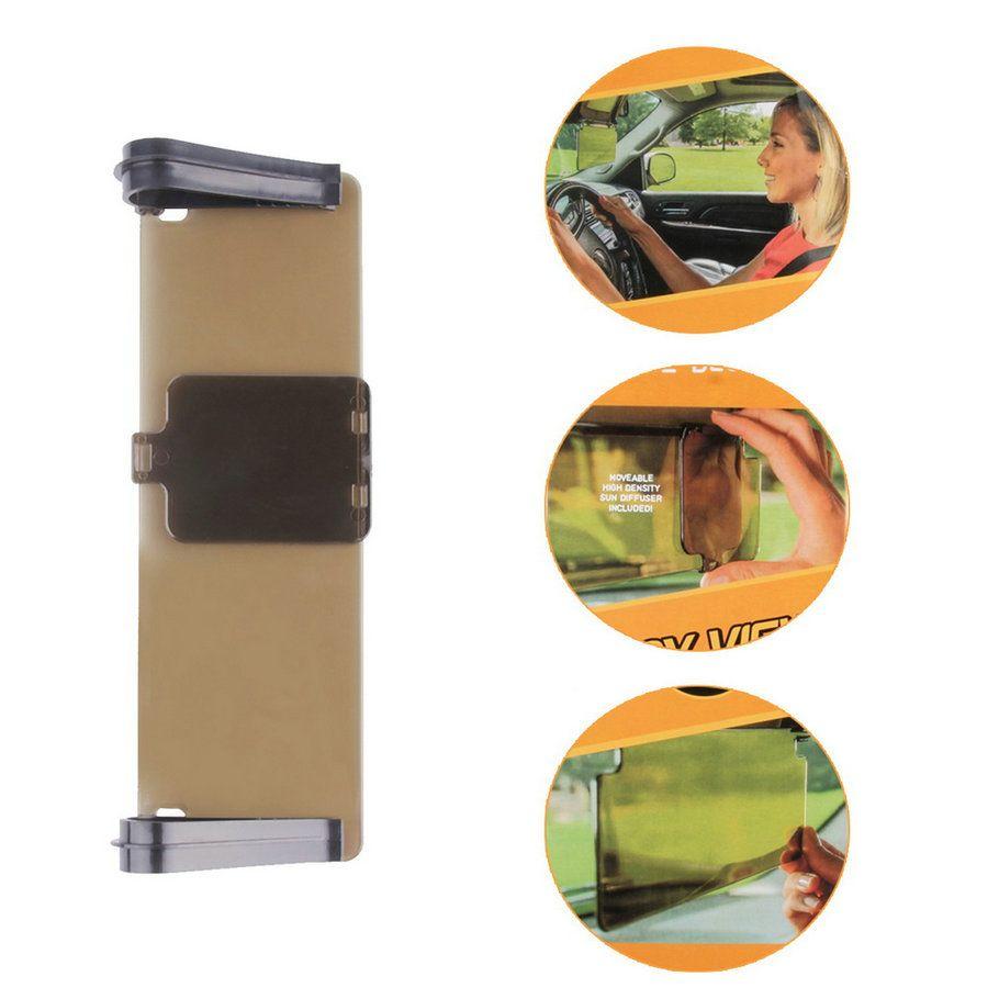 Nuevo HD Clear Car Parasol Visor Gafas Conductor Día y noche Anti UV Bloqueador de Vista Visor Anti-deslumbramiento Gafas venta caliente