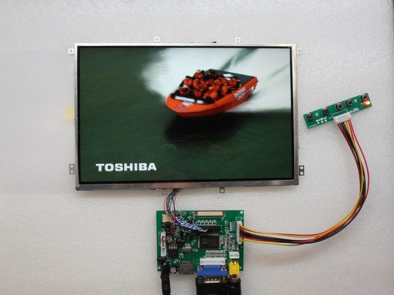 E&M 10.1 Inch 1280*800 IPS Screen LCD VGA 2 AV HDMI Raspberry PI 3 Car Auto Backing Priority Rasberry Display Monitor