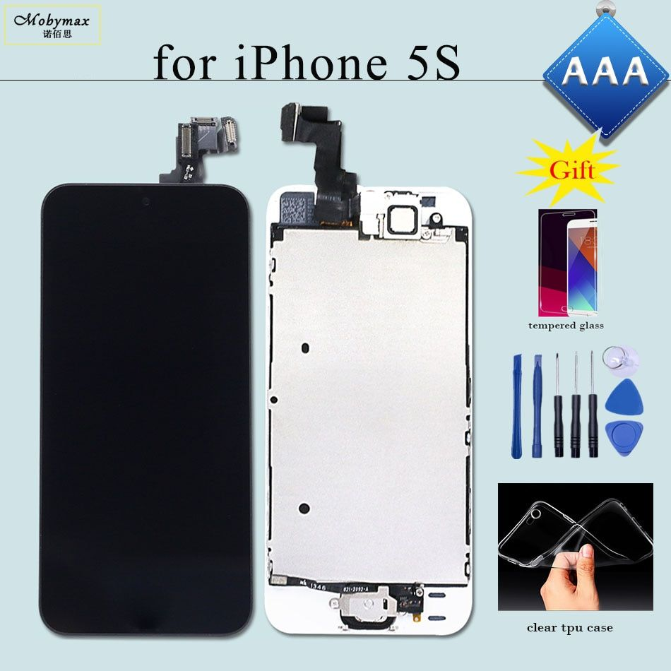 Replacement for iPhone 5S LCD A1457 A1533 A1530 Screen Ecran Display Digitizer Full Assembly Module+Home Button+Front Camera