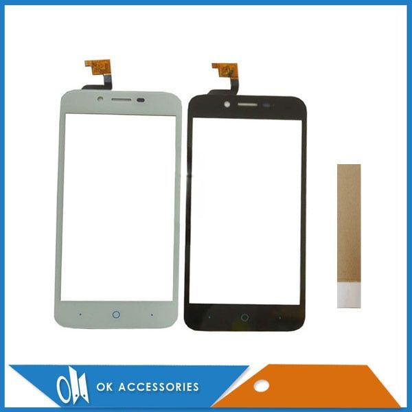 For ZTE Blade A460 L4 Touch Screen Digitizer Screen Black White Color Replacement Part With Tape
