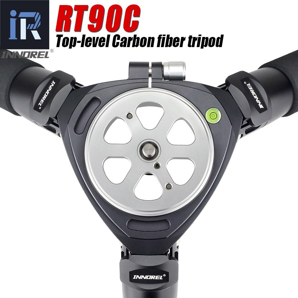 RT90C top-level Carbon Fiber Stativ professionelle Vogelbeobachtung heavy duty kamera stehen 40mm rohr 40 kg last 75mm schüssel adapter