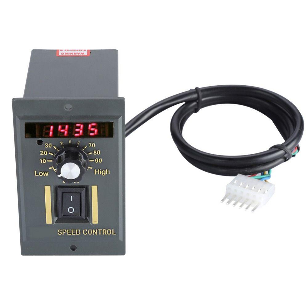 AC 220V Motor Speed Controller 50Hz 400W Digital Adjustable Stepless plc Motor Speed Controller 0-1450rpm speed regulator