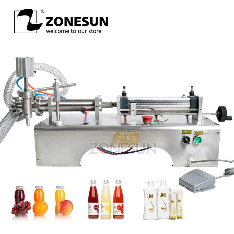 ZONESUN Pneumatische Kolben Flüssiger Füllstoff Shampoo Gel Wasser Wein Milch Saft Essig Kaffee Öl Trinken Waschmittel Füll Maschine