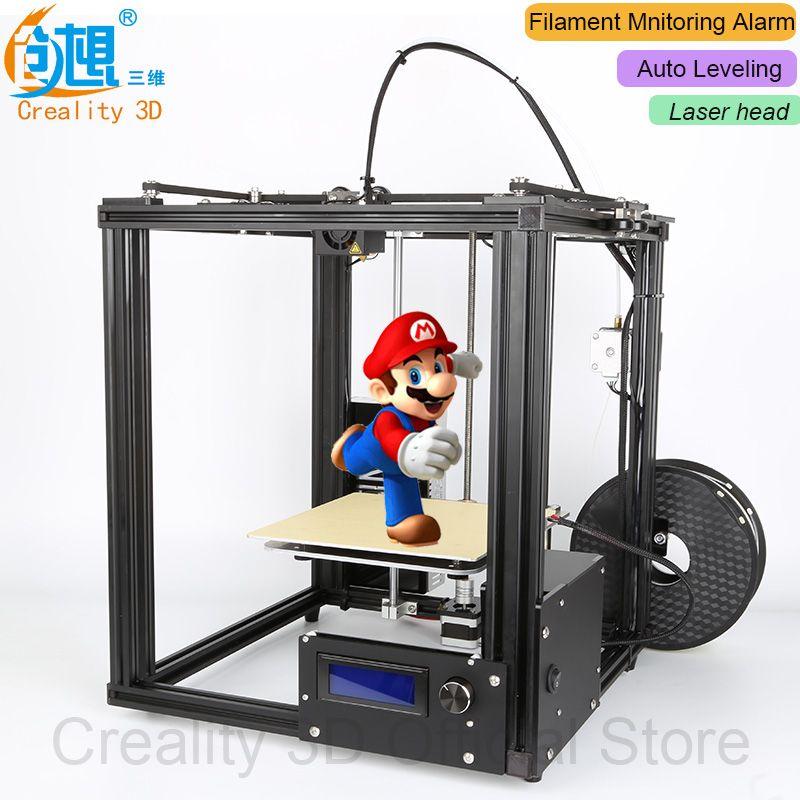 NOUVEAU!! CREALITY 3D Ender-4 Auto Nivellement Laser Core-XY 3D imprimante V-Cadre Slot 3D Imprimante Kit Filament Surveillance D'alarme Potection