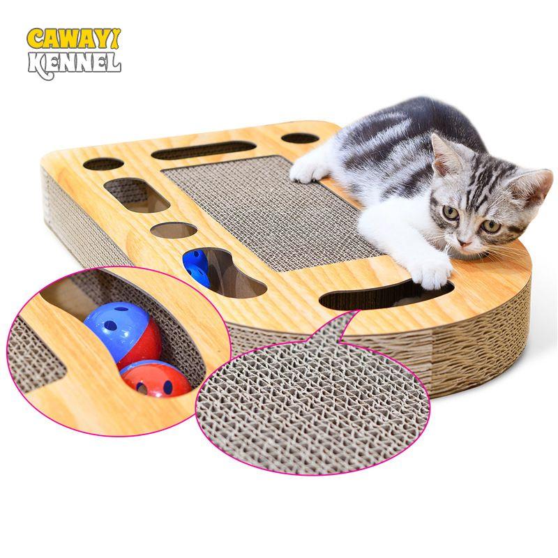 CAWAYI KENNEL Pet Cat Paper Scraper Board Kitten Scratching Post For Cats Scratcher rascador gato drapak dla kota grattoir chat