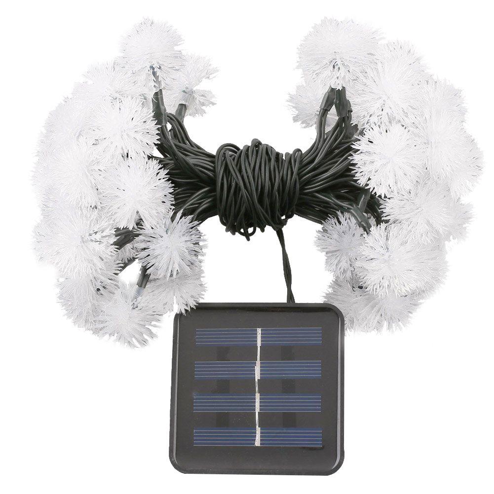 1pcs 20 pcs. Balls LED Solar light chain IP44, 2 modes (flashing / steady light)
