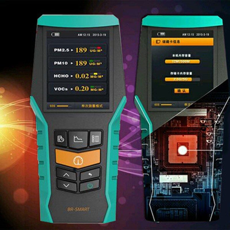 4 en 1 PM2.5 PM10 covt HCHO formaldéhyde détecteur d'air PM 2.5 moniteur 2.4 pouces LCD analyseur de gaz moniteur de Protection de l'air à domicile