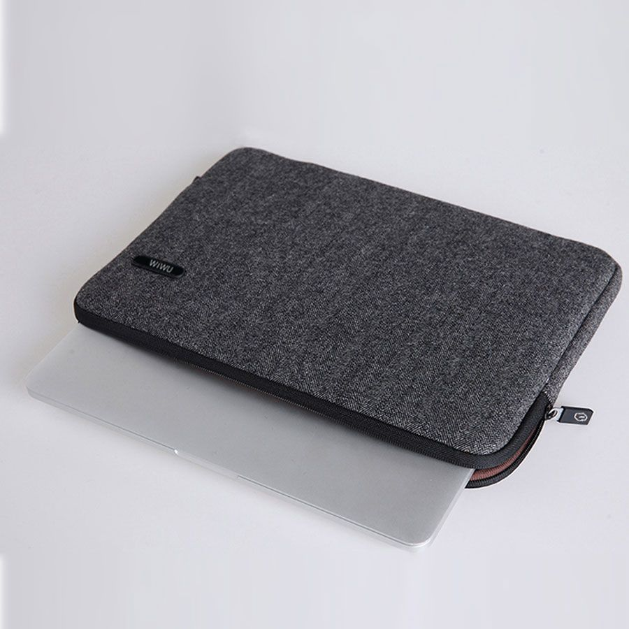 WIWU sac pour ordinateur portable en feutre pour Macbook Pro Air 13 étui antichoc femmes homme sac + couverture de clavier gratuit pour MacBook 15 sac d'ordinateur 13