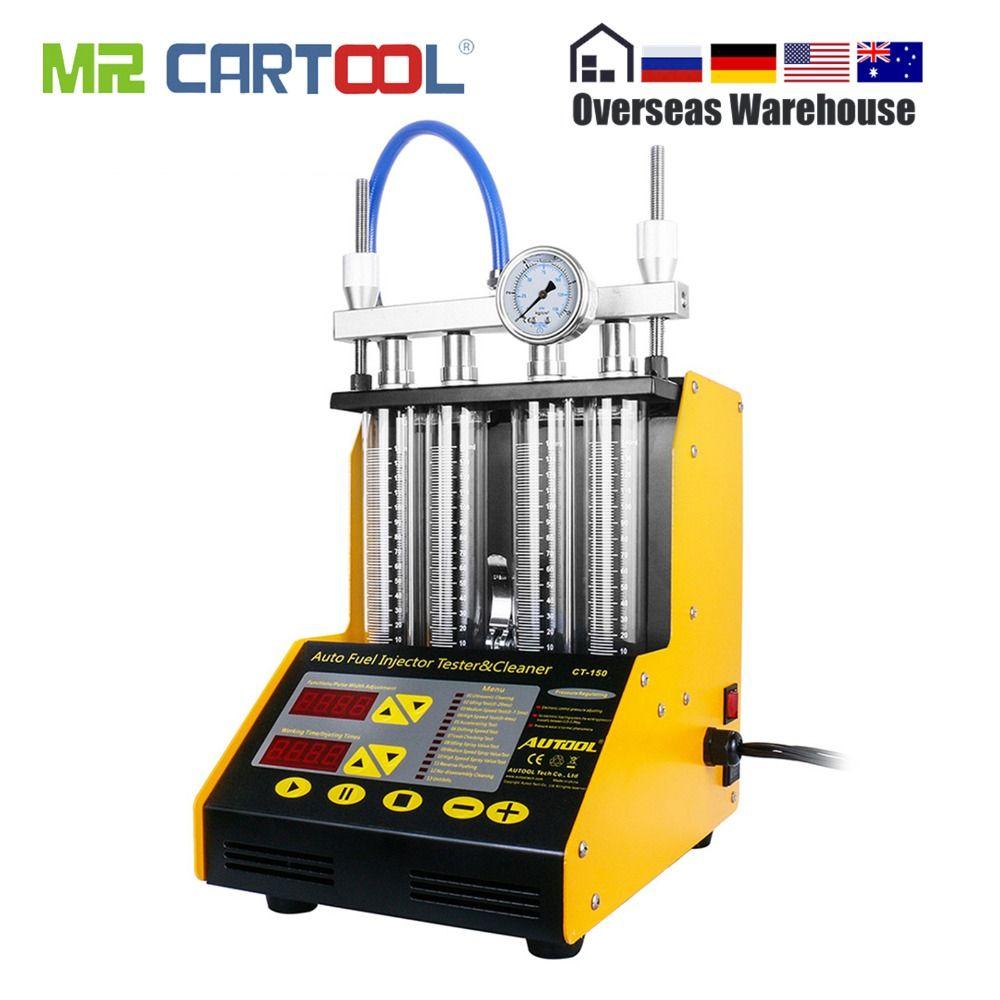 AUTOOL CT150 Auto Kraftstoff Injektor Tester Reinigung Maschine Injektor Reiniger Test Ultraschall Benzin Auto Werkzeug 110 V 220 V 4 zylinder