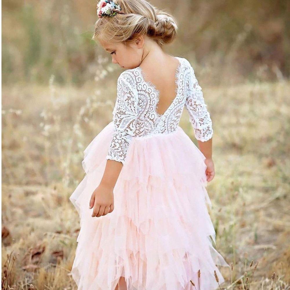 Petites Filles Cérémonies Robe Bébé vêtements pour Enfants Tutu Enfants Fête Robe pour Fille Vêtements Robe De Mariée Robes Robe Fille
