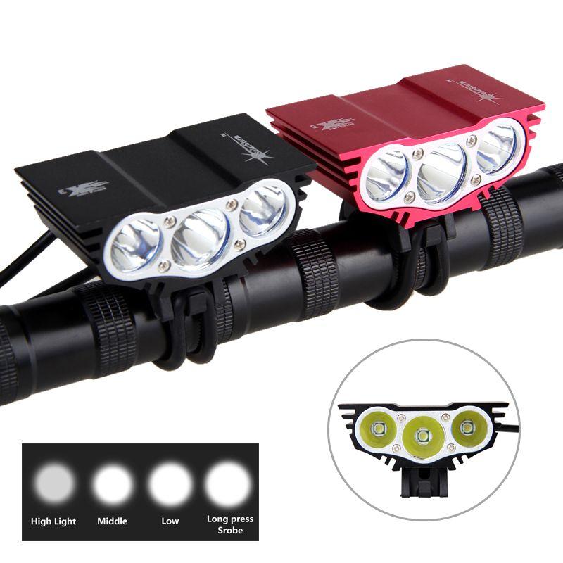 8000 Lumens éclairage vélo T6 led Vélo Lumière De Vélo Avant Lampe 4 Mode Torche + bloc-pile + Chargeur