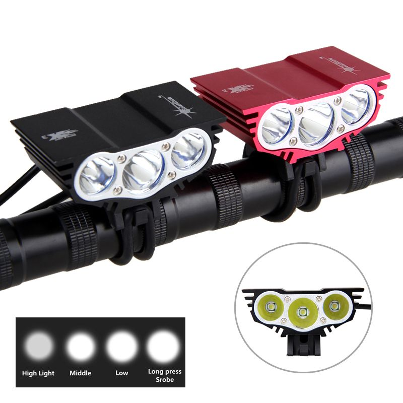 Solarstorm X3 Bicycle Light 8000 Lumens 4 Mode XM-L T6 LED Cycling Front Light Bike light Lamp Torch+ Battery Pack+Charger