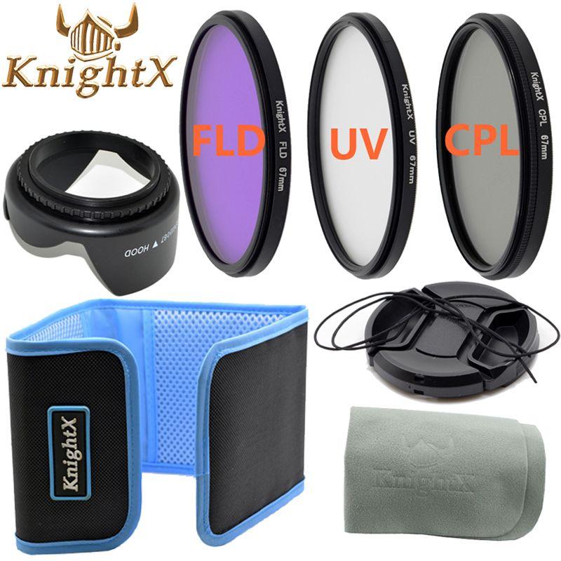 KnightX 49mm 52mm 58mm 67mm 55mm professionnel UV FLD CPL objectif filtre ensemble pour nikon Canon EOS objectif d3200 d5200 d3300 d5100 1200d
