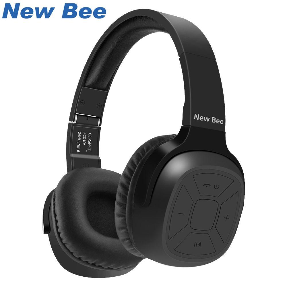 Nouveau Abeille Amélioré casque bluetooth Sport Casque Stéréo Écouteur avec Micro NFC App Podomètre Intra-auriculaires Stand Cas pour Téléphone PC TV
