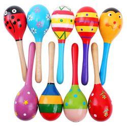 Warna-warni Mainan Kayu Alat Musik Mainan Bayi Montessori Mainan Shaker Mainan Anak Musik Mainan untuk Bayi Brinquedos