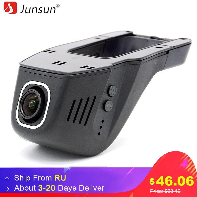 Junsun WiFi Car DVR Camera Novatek 96655 IMX 322 Full HD 1080p Universal Dashcam Video Registrator Recorder APP Manipulation