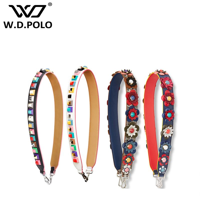 WDPOLO Strapper you rivet handbags belt strap for the bags Cow leather chic hot sell icon bag belts P1715