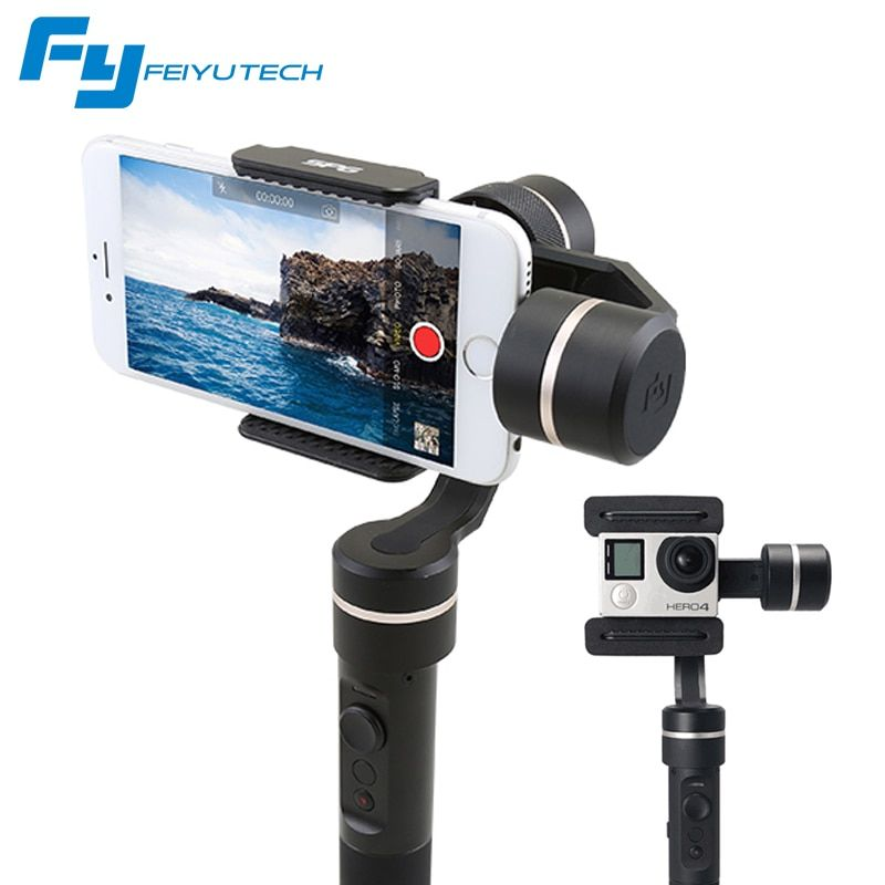 FeiyuTech SPG Gimbal 3-Axis Splash Proof Handheld Gimbal Stabilizer for iPhone X 8 7 6 Plus Smartphone Gopro Action Camera