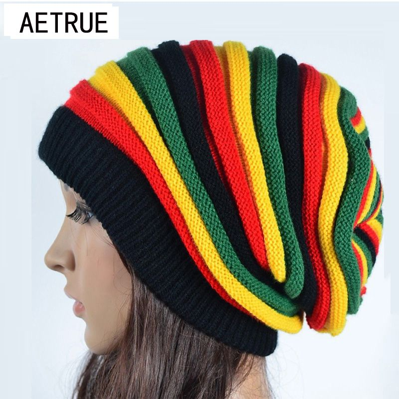 2017 Women's Winter Hats For Women Girls Winter Caps Bonnet Beanies Knitted Hat  Reggae Rasta Femme Mask Brand balaclava Hats