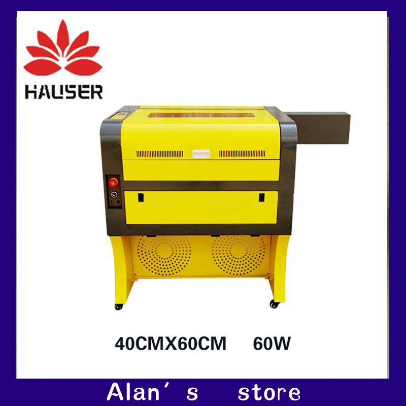 Freies verschiffen 60 w 4060 co2 laser stecher, 220 v/100 v co2 laser cutter maschine CNC laser gravur maschine laser kennzeichnung maschine