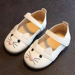 TELOTUNY niños niña princesa de la manera danza del gato cuero nobuck solos zapatos para niña Casual zapatos V1156