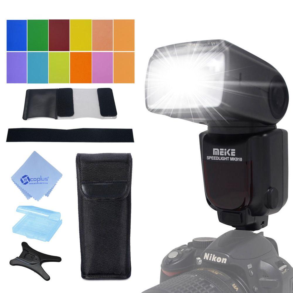 Meike MK-910 MK910 i-TTL 1/8000s HSS Sync Master & Slave flash <font><b>speedlite</b></font> for Nikon SB-910 SB-900 D7100 D800 D5500 D750 DSLR came
