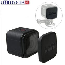LANBEIKA For Gopro Hero 5 4 Session Lens Cap Cover Housing Case Protective with Gopro Logo For Go pro Hero 4/5 Session 5S 4S