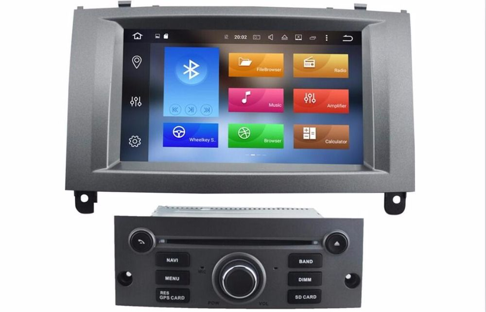 2018 4G LTE Android 8.0  NO VAT For Peugeot 407 2004-2010 Car GPS Navigation DVD Player Radio Screen DVD FAST SHIPPING