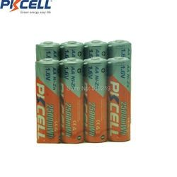 8Pcs Ni-Zn 1.6V AA 2500 mWh 2500mwh High Performance Rechargeable aa batteries and 1Pc Battery Box Case