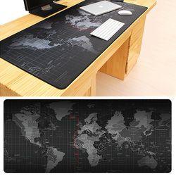 Hot Jual Ekstra Besar Mouse Pad Peta Dunia Lama Mousepad Gaming Anti-Slip Karet Alam Mouse Gaming Alas Mouse dengan penguncian Edge