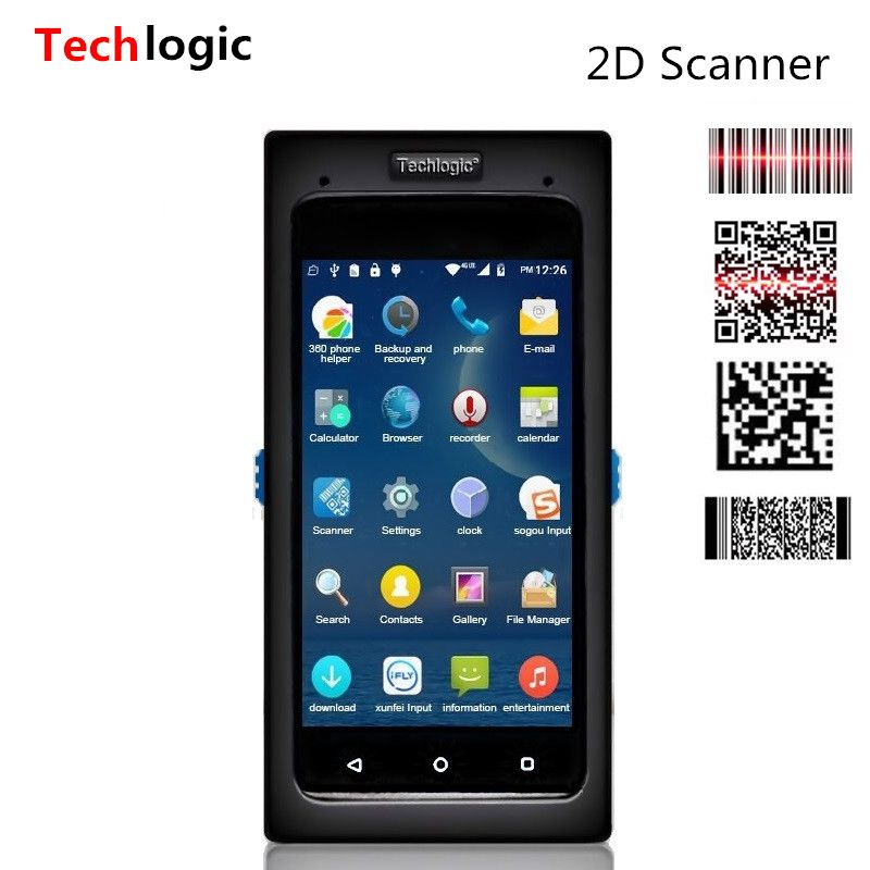 Techlogic Android Scanner 2D QR Barcode Scanner Full Screen Touch Mobile Data Terminal Wifi Bluetooth PDA Wireless Scanner