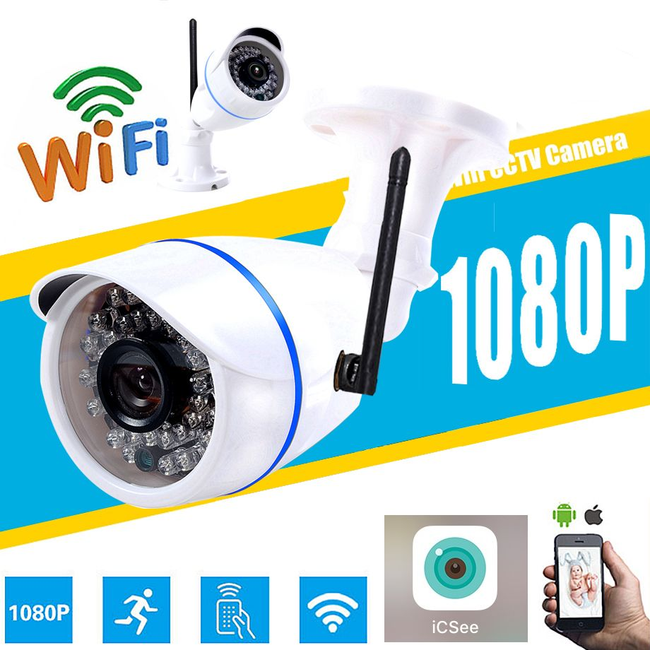 HD 1080P 960P 720P Wireless 2.0MP IP Camera P2P RTSP Motion Detected Waterproof WiFi Camera Bullet with 32G SD Card icsee app